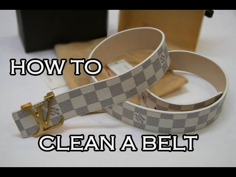 HOW TO CLEAN A BELT PROFESSIONALLY