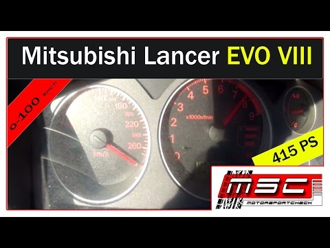 Mitsubishi Lancer Evo 8 VIII 0-100 Topspeed Sound Acceleration Sound