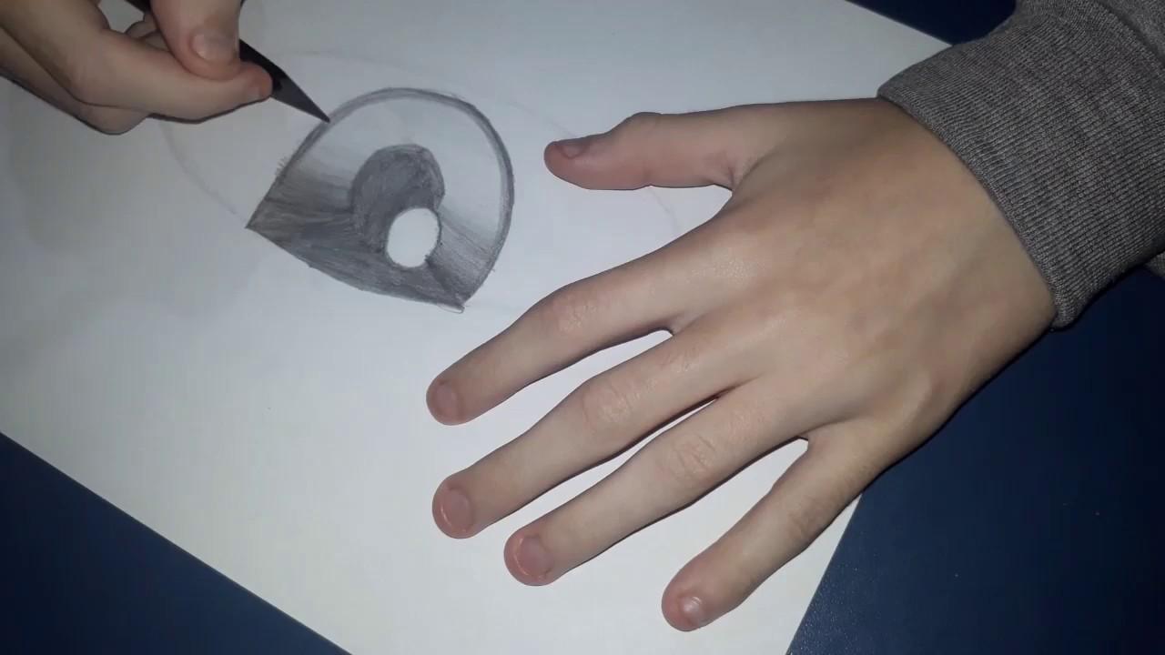 """Como Desenhar Olho """"Quase"""" Realista Com Matérial De Escola!!(SUPER FÁCIL)-TUTORIAL"""