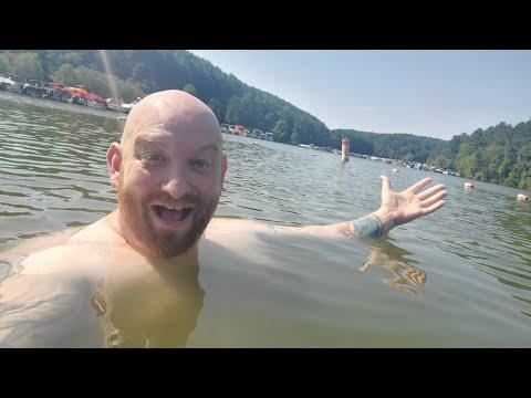 GO JUMP IN THE LAKE !! RV Camping At Tappan Lake Park Deersville Ohio