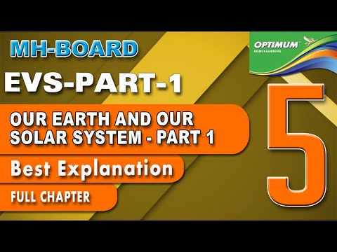 STD 5 EVS | Part 1 | OUR EARTH AND OUR SOLAR SYSTEM | MAHARASHTRA BOARD |  Kids E-Learning | 10+