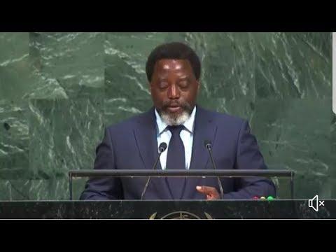 Le président Joseph Kabila prononce son discours devant l'Assemblée générale des Nations Unies
