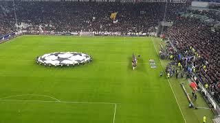 Juventus v Man Utd 1-2 Champions League anthem
