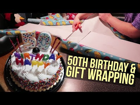 50th Birthday Gift Wrapping