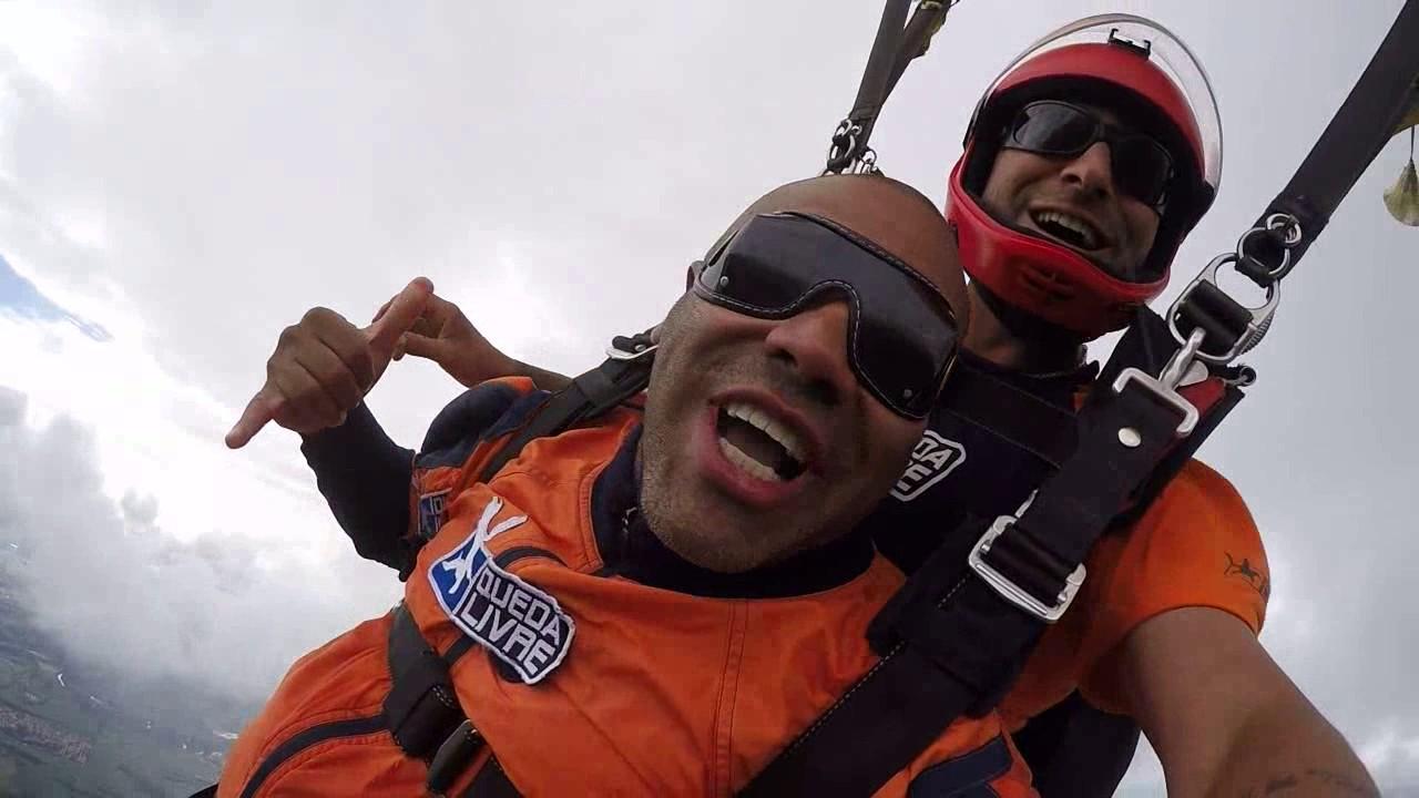 Salto de Paraquedas do Rogerio J na Queda Livre Paraquedismo 07 01 2017