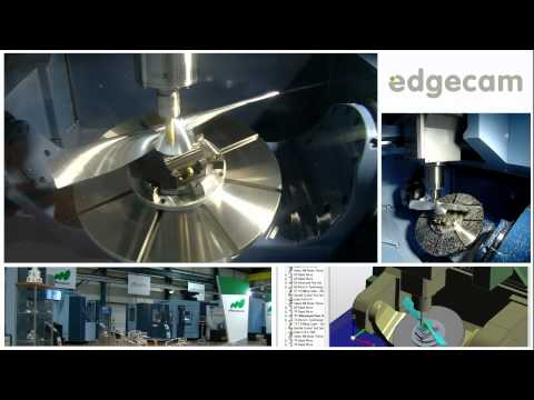 5-Axis propeller blade milling on the Matsuura MX-850