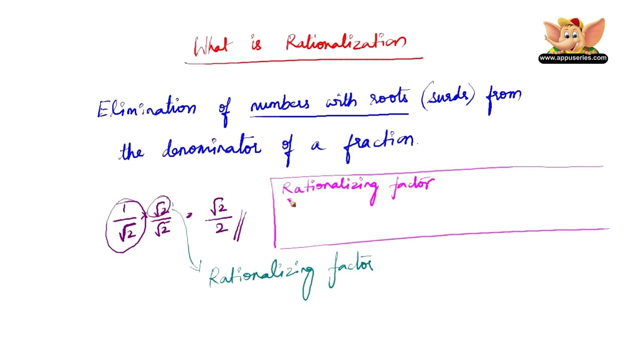 What Is Rationalization And Rationalizing Factor Youtube