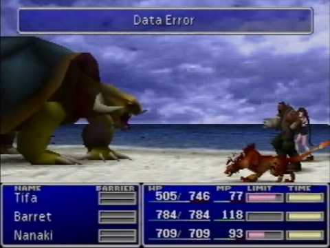 Final Fantasy VII - Adamantaimai Glitch - Data Error