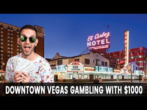 🔴 LIVE Downtown VEGAS 🎰 Gambling With $1000