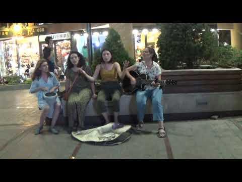 Yerevan - Girls Singing In North Avenue,