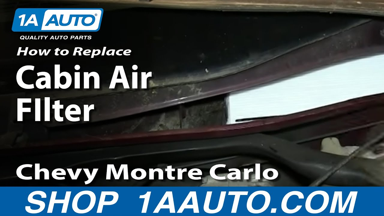 How To Install Replace Cabin Dust Pollen Air FIlter 200005 Chevy Monte Carlo  YouTube