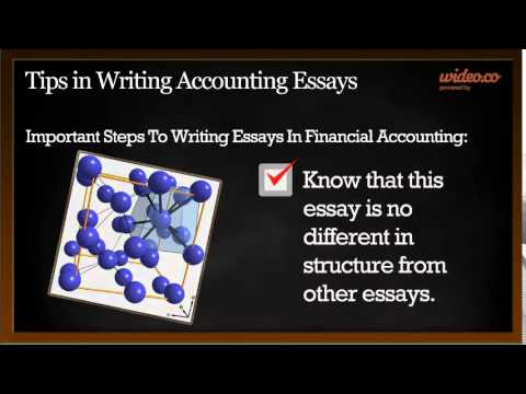 World Literature Essay Tips In Writing Accounting Essays  By Wideoco Hugh Gallagher Essay also Speech Analysis Essay Example Tips In Writing Accounting Essays  By Wideoco  Youtube Gender Issues Essay