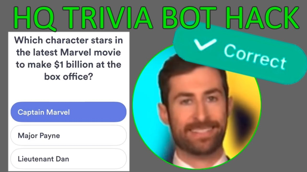 BOT FOR HQ TRIVIA HACK