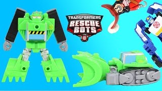 Transformers Rescue Bots Boulder the Bulldozer & Chase Rescue Captain Hook Scooby-Doo Jake