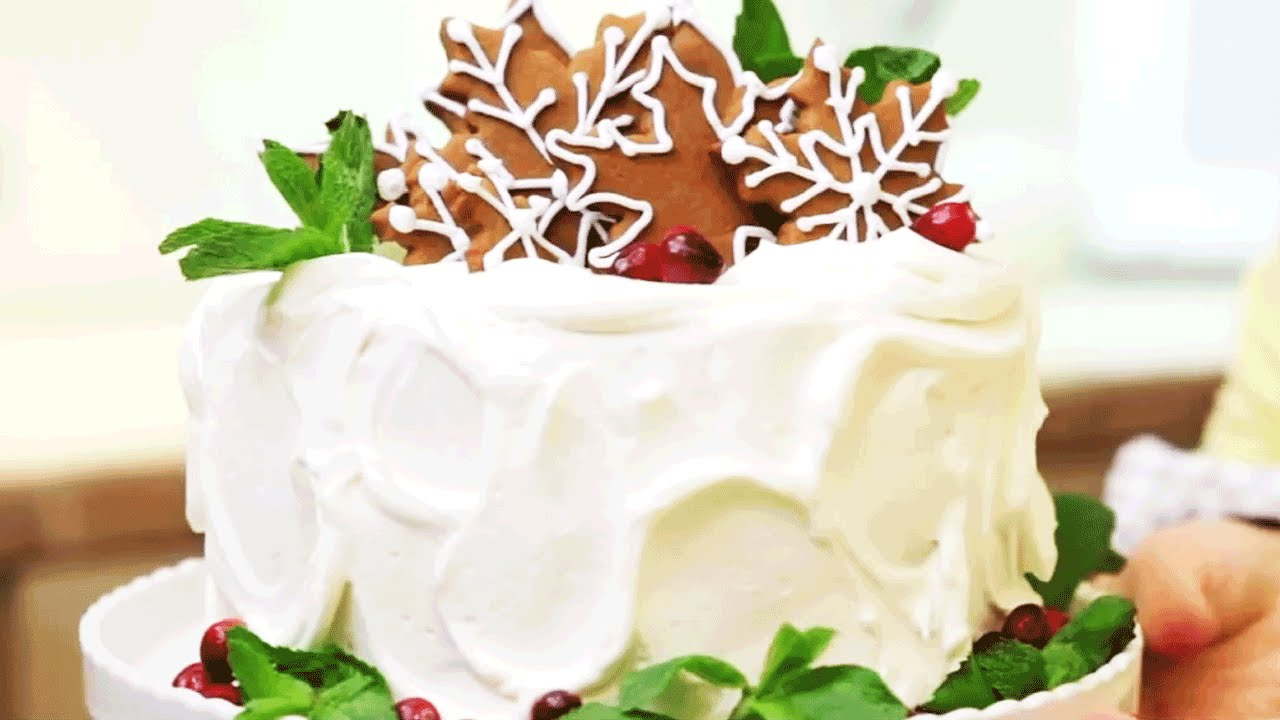christmas cake decorations southern living youtube - Christmas Cake Decorations