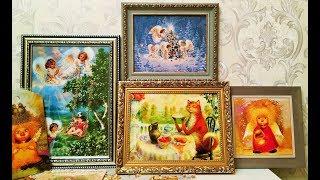 Мои картины-новиночки. Ангелы от Люси и Галины Чувиляевых.Котик от Владимира Румянцева