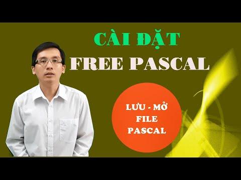 CÀI ĐẶT FREE PASCAL - CÁC THAO TÁC LƯU MỞ FILE PASCAL @365dha