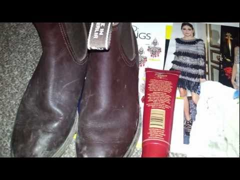 Watch: The difference leather conditioner makes to a good boot!