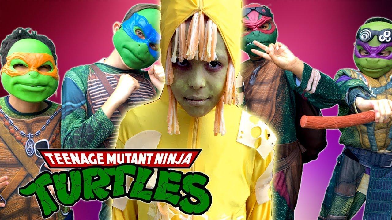 Teenage Mutant Ninja Turtles Vs The Cheese Monster - Fun Kids Parody -  Gorgeous Movies