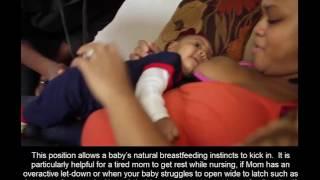 Laid Back/Reclining Breastfeeding Position