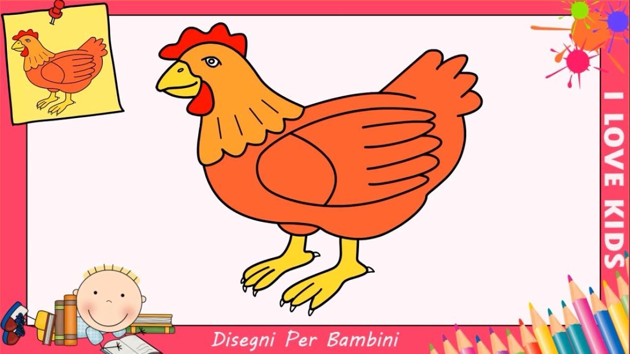 Disegni di galline facili per bambini come disegnare una for Conigli facili da disegnare