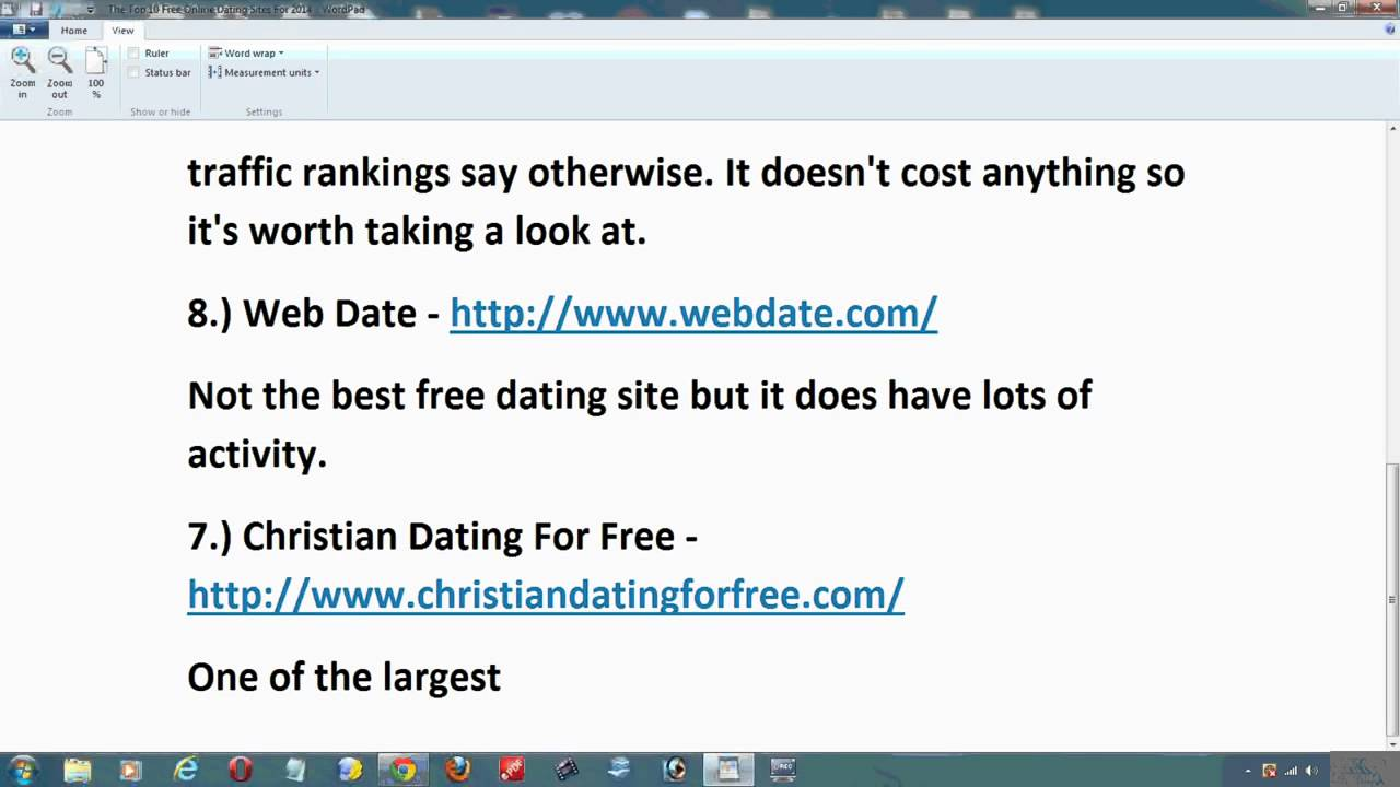 A list of dating sites