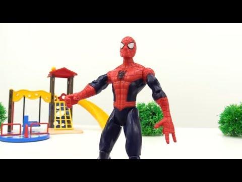 🔫 Игрушки для мальчиков. #СПАЙДЕРМЕН и КАПИТАН АМЕРИКА против ДЖОКЕРА! Видео про игрушки