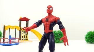 Игрушки для мальчиков. Спайдермен и Капитан Америка против Джокера