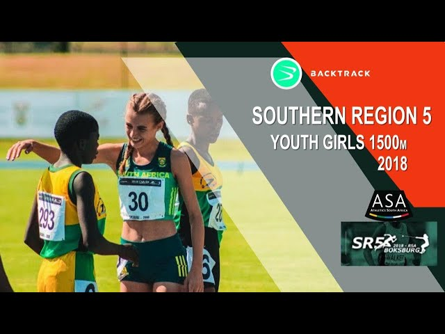 u18 Women 1500m Nicole Louw winning the gold