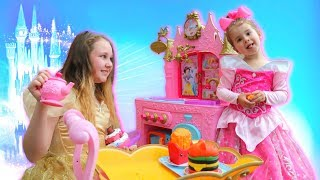 PRINCESS SISTERS Royal Kitchen Cooking Toy Food Kids Pretend Play
