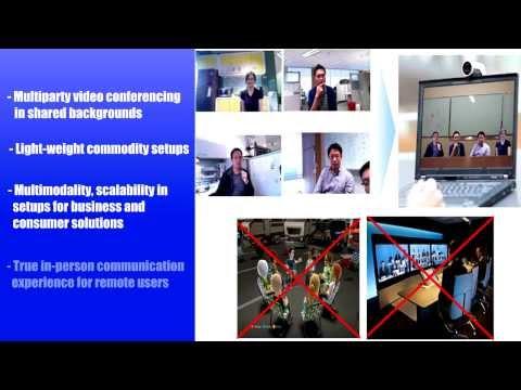 Tele-immersive Audio-visual Communication Using Commodity Hardware