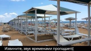 Анапа Витязево Пансионат Селена территория/идем от ресепшена до моря