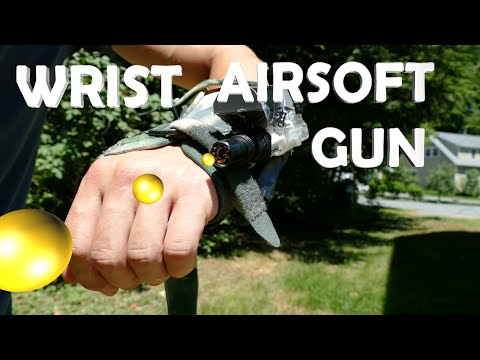 DIY Wrist Airsoft Gun! - Amazing Spy Gadget (Full Auto Electric)
