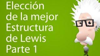 Estructuras de Lewis (selección de estructuras)