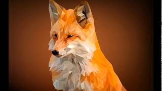 Low poly fox