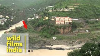 Devprayag before and after the floods