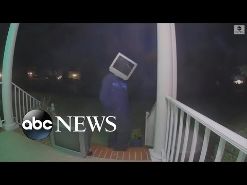 Web Ninja - Man with TV for Head Leaves Old TVs on Random Porches