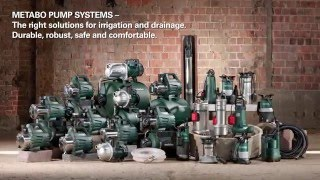 Metabo pump systems for irrigation and domestic water supply (English)