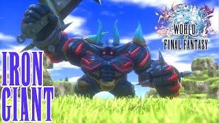 World of Final Fantasy - Capture and Summon IRON GIANT - Rare Mega XL Mirage - LUCKY Battle