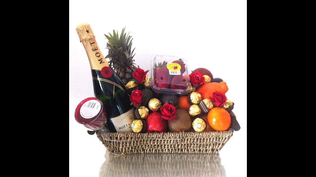 Fruit Basket Moet Champagne Gift Hamper + Chocolates