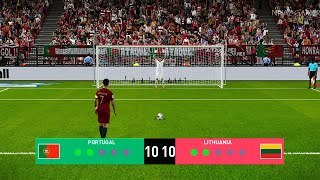PES 2020 | Portugal vs Lithuania | Penalty Shootout | Gameplay PC