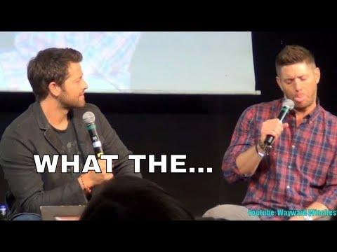Jensen Ackles Drunk In Rome? Misha Collins Loses It! . Jibcon8