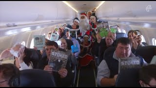 Spreading Christmas cheer through New Zealand skies