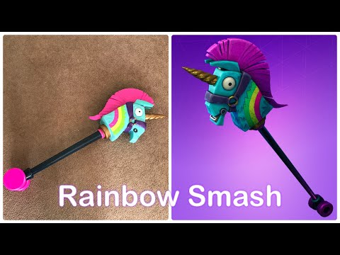 Fortnite Rainbow Smash Pickaxe Prop Unboxing Review