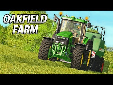 BALING WITH THE DEERE! | Farming Simulator 17 | Oakfield Far