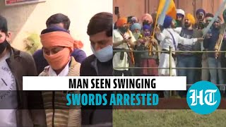 Delhi police arrest man seen swinging swords at Red Fort on R-day