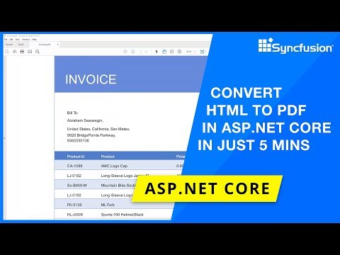 Convert HTML To PDF In ASP.NET Core In Just 5 Minutes