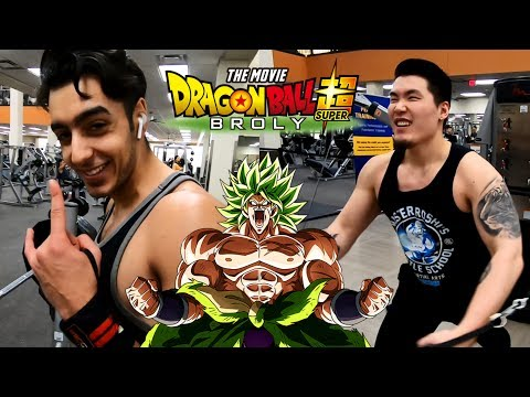 TRAINING LIKE BROLY TO WATCH THE DBS BROLY MOVIE! Chest Day ft. Rawaad