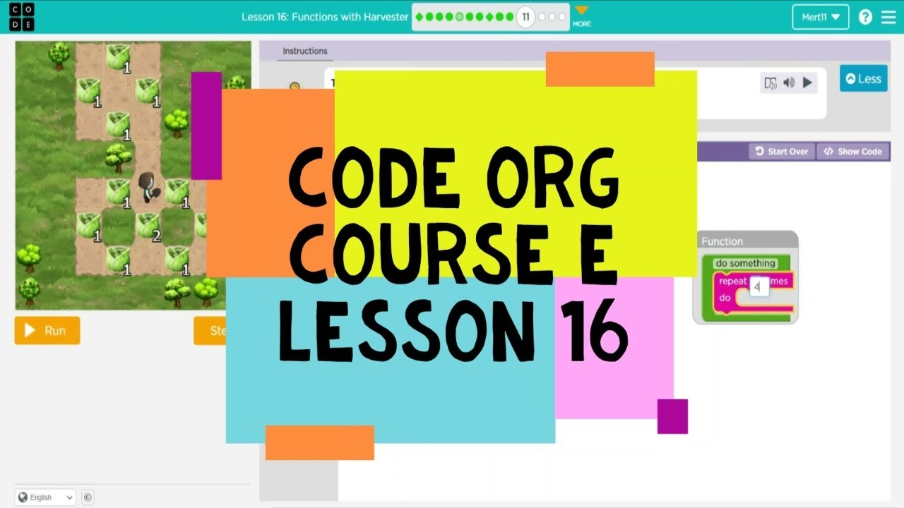 code org lesson 17 functions with harvester