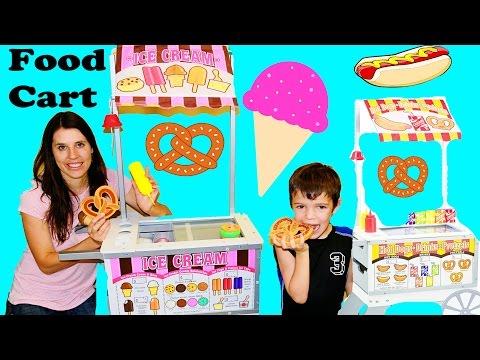 Melissa & Doug Wooden ICE CREAM CART Toy Review